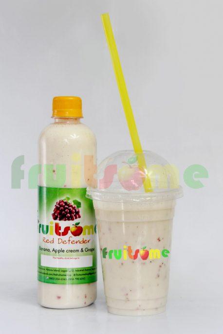 FRUITSOME SHOP RED DEFENDER CUP OR BOTTLE 50CL N1,500.00, 1 LITRE N2,500.00