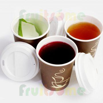 HOT AND ICED TEAS (HIBISCUSFLOWER, LEMON AND GREEN TEAS + OR - HONEY. CUPS N400-N500)