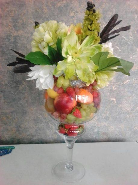 Fruitsome Fruit and Flower arrangement