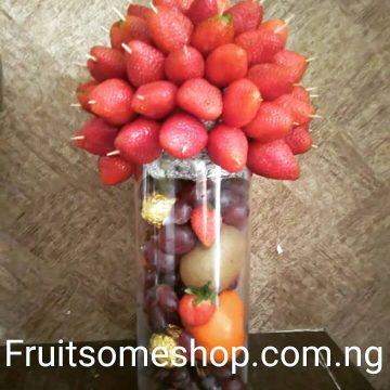fruitsome strawberry vase
