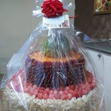Fruitsome 3-tier Fruit birthday cake