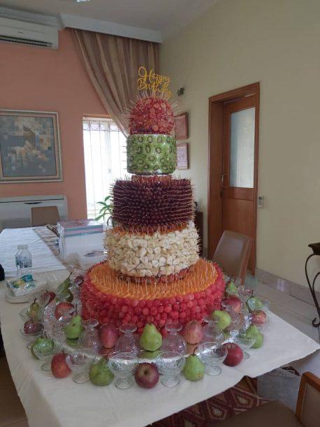 Fruitsome 5-tier(foreign plus) birthday cake