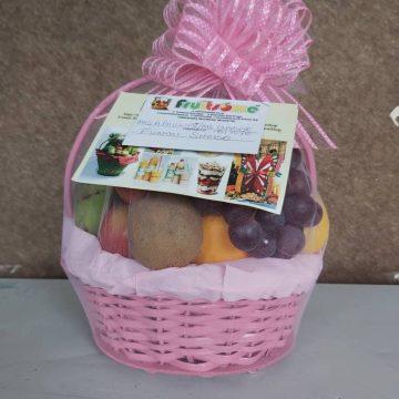 Fruitsome fruit Gift basket Pink