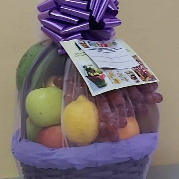 Fruitsome fruit Gift basket Purple